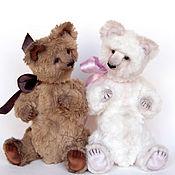 Куклы и игрушки ручной работы. Ярмарка Мастеров - ручная работа Тедди мишки Белый и Коричневый. Handmade.