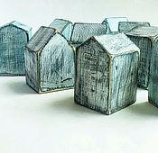 """Для дома и интерьера ручной работы. Ярмарка Мастеров - ручная работа Домики в стиле """"шебби"""",  4 шт. Handmade."""