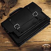 Мужская сумка ручной работы. Ярмарка Мастеров - ручная работа Мужской портфель с двумя отделениями, из толстой кожи TNBag14. Handmade.