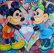 Картины и панно handmade. Livemaster - original item There where Minnie, where`s Mickey. Handmade.