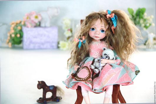"""Коллекционные куклы ручной работы. Ярмарка Мастеров - ручная работа. Купить Авторская кукла """"Северина"""". Handmade. Голубой, лошадка"""