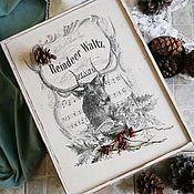 """Хранение вещей ручной работы. Ярмарка Мастеров - ручная работа Ящик для хранения """"Новогодний олень"""". Handmade."""