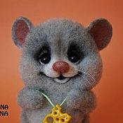Куклы и игрушки ручной работы. Ярмарка Мастеров - ручная работа Мышка валяная Асечка. Handmade.