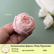 handmade. Livemaster - original item Silicone soap mold rose Prussian. Handmade.