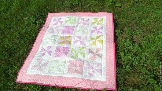 """Текстиль, ковры ручной работы. Ярмарка Мастеров - ручная работа. Купить Одеяло для девочки """"Зефирчик"""". Handmade. Розовый, для новорожденной, слимтекс"""