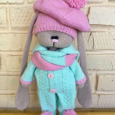 Куклы и игрушки ручной работы. Ярмарка Мастеров - ручная работа Тильды: Вязаный заяц Тильда. Handmade.