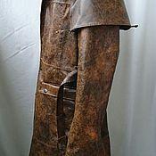 """Одежда ручной работы. Ярмарка Мастеров - ручная работа Кожаный плащ из"""" Postal 3"""". Handmade."""