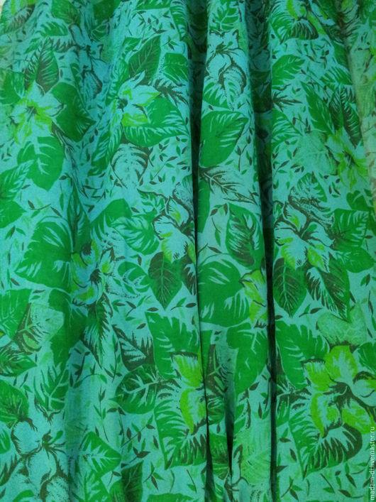 """Шитье ручной работы. Ярмарка Мастеров - ручная работа. Купить Крепжоржет """"Зеленый сад """" 2,4 м. Handmade."""