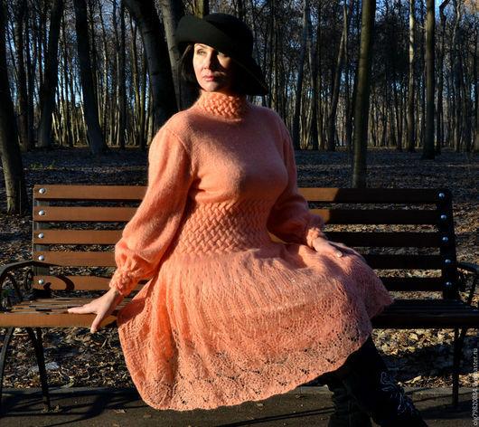 """Платья ручной работы. Ярмарка Мастеров - ручная работа. Купить Теплое ажурное платье """"Моя прекрасная Леди!. Handmade."""