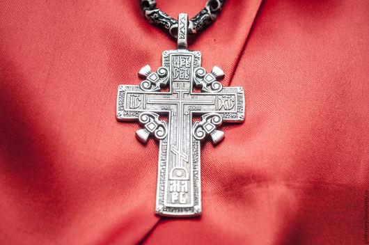 Украшения для мужчин, ручной работы. Ярмарка Мастеров - ручная работа. Купить Голгофский крест. Handmade. Серебряный, серебрянный крест, крестик