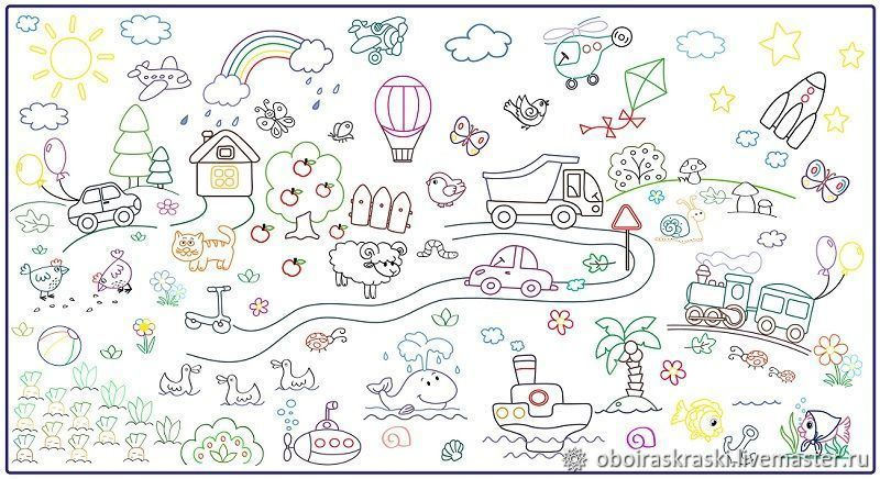 """Плакат - раскраска """"Малыш"""" для самых маленьких детей ПДФ ..."""
