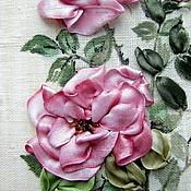 Картины и панно ручной работы. Ярмарка Мастеров - ручная работа картина Роза в горшке. Handmade.