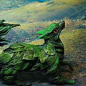 Подарки к праздникам ручной работы. Ярмарка Мастеров - ручная работа лесной дух  лиса Кицунэ фигурка игрушка лисица. Handmade.