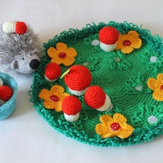 "Educational Toys handmade. Livemaster - handmade. Buy Developmental Toy ""Hedgehog on the Meadow"".Developmental toy, velcro"