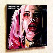 Подарки к праздникам handmade. Livemaster - original item Painting Pop Art Harley Quinn Suicide Squad. Handmade.