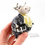 handmade. Livemaster - original item Interior, toy for the Christmas tree Bull, souvenir bull, Christmas toys. Handmade.