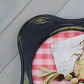 Для дома и интерьера ручной работы. Ярмарка Мастеров - ручная работа Постер в раме `Оливки на красном`. Handmade.
