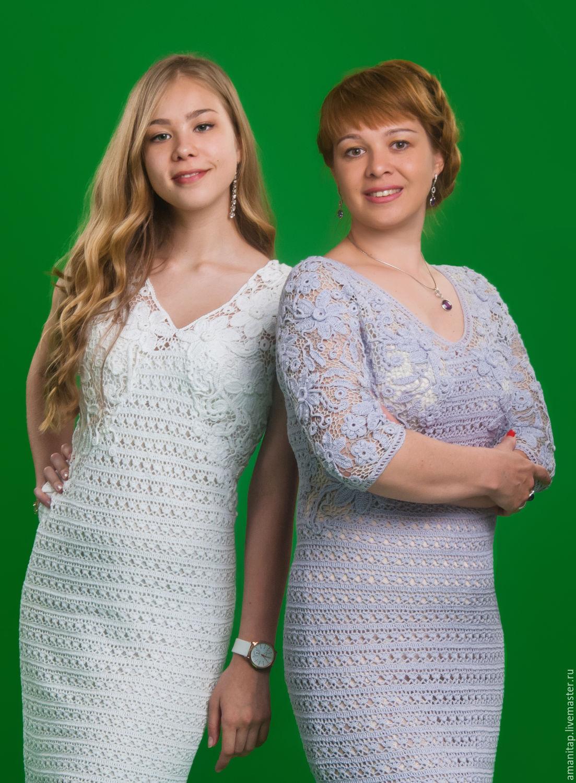 182946c7762 Белое белоснежное платье ЮЛИЯ вязаное крючком ирландское кружево ...