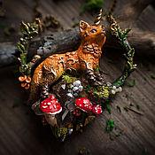 """Украшения ручной работы. Ярмарка Мастеров - ручная работа кулон """"Однорогая лиса"""". Handmade."""