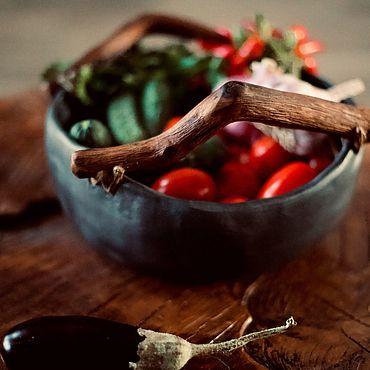 Посуда ручной работы. Ярмарка Мастеров - ручная работа Блюдо с дубовыми ручками. Handmade.