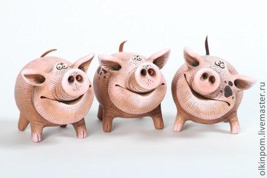 Миниатюрные модели ручной работы. Ярмарка Мастеров - ручная работа. Купить Розовая свинка. Handmade. Розовый, хрюшки