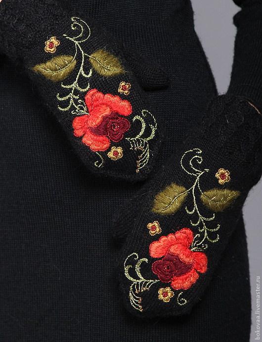 """Варежки, митенки, перчатки ручной работы. Ярмарка Мастеров - ручная работа. Купить Варежки """" Аленький  цветочек"""". Handmade. Варежки"""