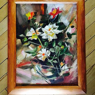 Картины и панно ручной работы. Ярмарка Мастеров - ручная работа Нежность 30*40 масло. Handmade.