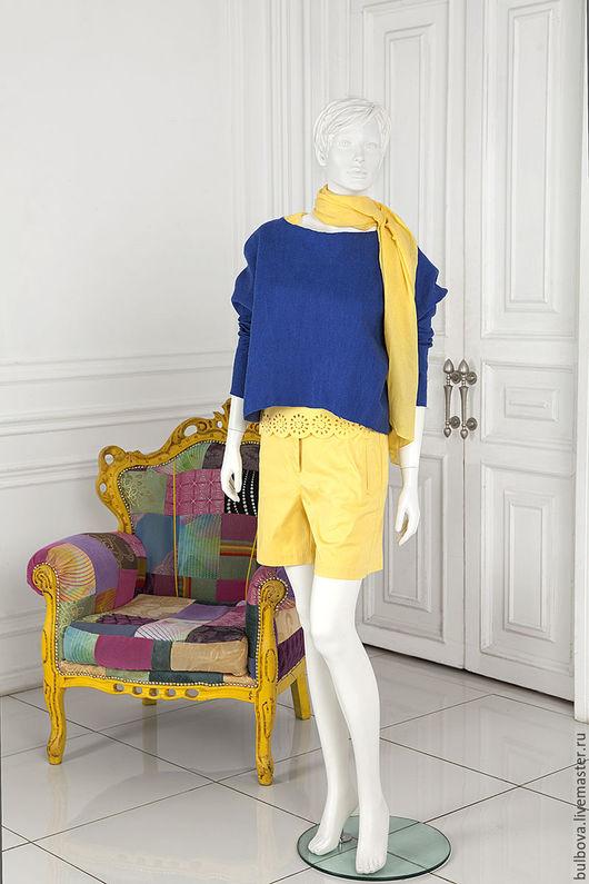Кофты и свитера ручной работы. Ярмарка Мастеров - ручная работа. Купить Джемпер шерстяной Синева. Handmade. Синий, шерсть, женщине