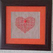 Картины и панно ручной работы. Ярмарка Мастеров - ручная работа терракотовое сердце. Handmade.