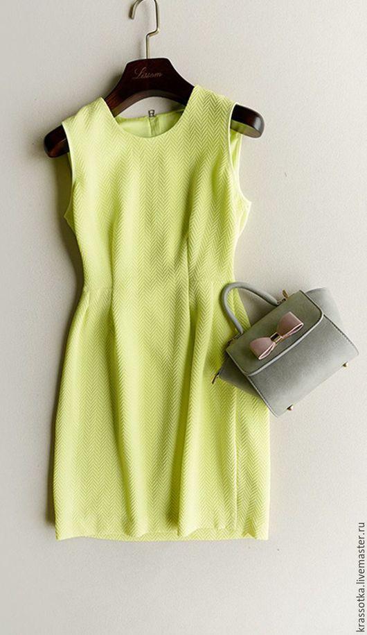 Платья ручной работы. Ярмарка Мастеров - ручная работа. Купить Платье Лимонное. Handmade. Лимонный, коктельное платье, скидка, вискоза