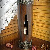 """Короб ручной работы. Ярмарка Мастеров - ручная работа Короб для вина """" Золотой узор"""". Handmade."""