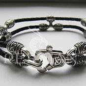 Украшения handmade. Livemaster - original item Bracelet braided: Bracelet Triple knot. Handmade.