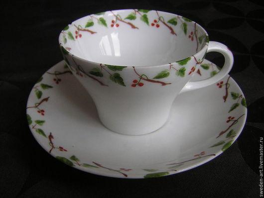 Винтажная посуда. Ярмарка Мастеров - ручная работа. Купить Фарфоровая кофейная чашка с блюдцем- немeцкий фарфор. Handmade. Фарфор, винтажная
