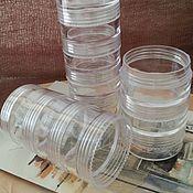 Материалы для творчества handmade. Livemaster - original item Container round storage materials 3,8h12 cm plastic (3321). Handmade.