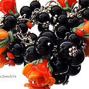 Украшения handmade. Livemaster - original item Bracelet Orange lampwork mood.. Handmade.