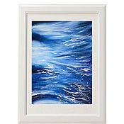 Картины и панно handmade. Livemaster - original item Painting the sea in watercolor Blue abstraction. Handmade.