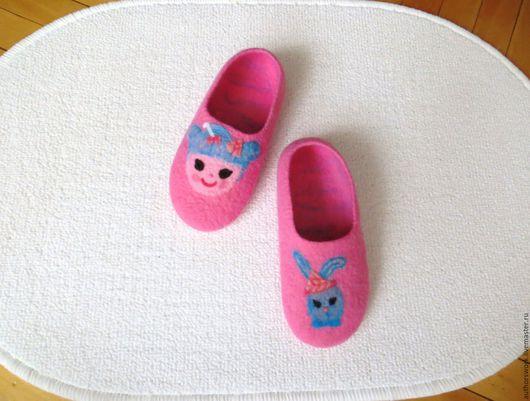 """Обувь ручной работы. Ярмарка Мастеров - ручная работа. Купить Тапочки для девочек """"Кукла Лалалупси"""". Handmade. Обувь для детей"""