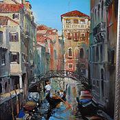 """Картины и панно ручной работы. Ярмарка Мастеров - ручная работа картина маслом """" Венеция. Этюд"""". Handmade."""