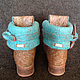 """Обувь ручной работы. Заказать Валяные ботинки """"Весна в Париже"""". Бардина Елена          (Elen Bardi). Ярмарка Мастеров. Валяная обувь"""