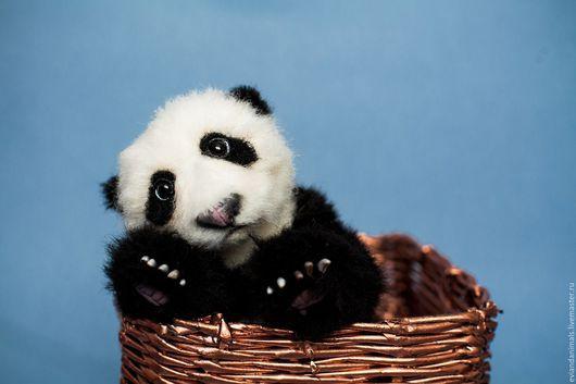 Мишки Тедди ручной работы. Ярмарка Мастеров - ручная работа. Купить малыш панда Лианг. Handmade. Чёрно-белый