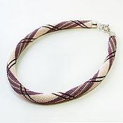 Украшения handmade. Livemaster - original item Harness beaded Variation burberry. Handmade.