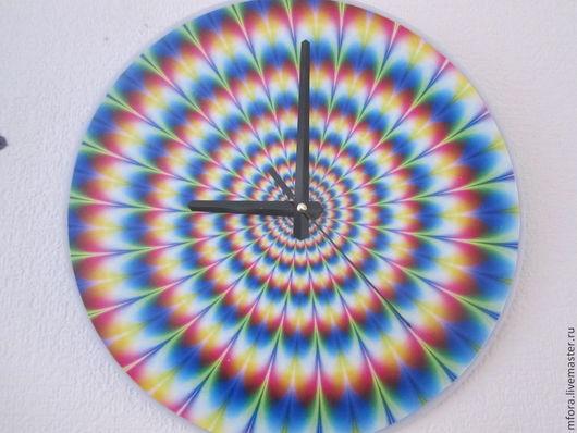 Часы для дома ручной работы. Ярмарка Мастеров - ручная работа. Купить часы настенные. Handmade. Разноцветный, оргстекло, пленка с печатью