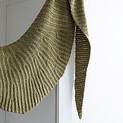 Аксессуары ручной работы. Ярмарка Мастеров - ручная работа Оливковый шарф-бактус. Handmade.
