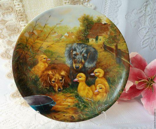 Винтажная посуда. Ярмарка Мастеров - ручная работа. Купить Коллекционная тарелка, настенная тарелка, Германия. Handmade. Тарелка декоративная