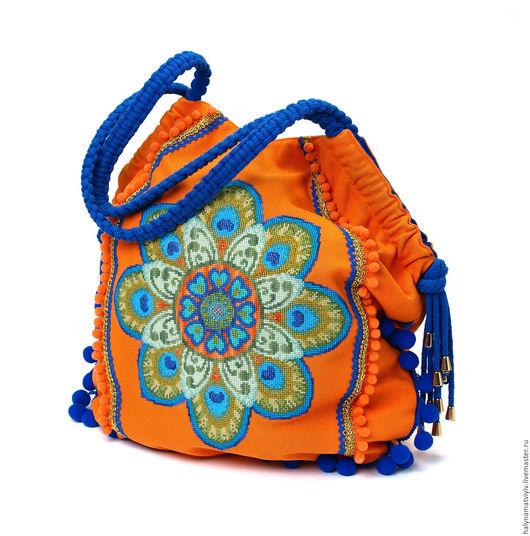 """Женские сумки ручной работы. Ярмарка Мастеров - ручная работа. Купить Сумка """"Солнце"""". Handmade. Вышивка, Макраме, Красивая сумка"""