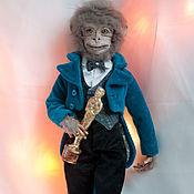 Куклы и игрушки handmade. Livemaster - original item Mr Monkey. Handmade.