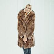handmade. Livemaster - original item Fox fur coat with hood. Handmade.