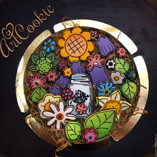 Кулинарные сувениры ручной работы. Ярмарка Мастеров - ручная работа. Купить Весенний букет. Handmade. Комбинированный, пряничный подарок