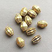 Материалы для творчества ручной работы. Ярмарка Мастеров - ручная работа _Бусины 7,5 мм цвет золото античное  разделители для бусин. Handmade.
