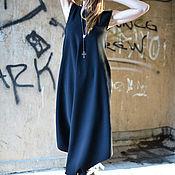 Одежда handmade. Livemaster - original item Black, loose-fitting jumpsuit with zipper - JP0399GE. Handmade.